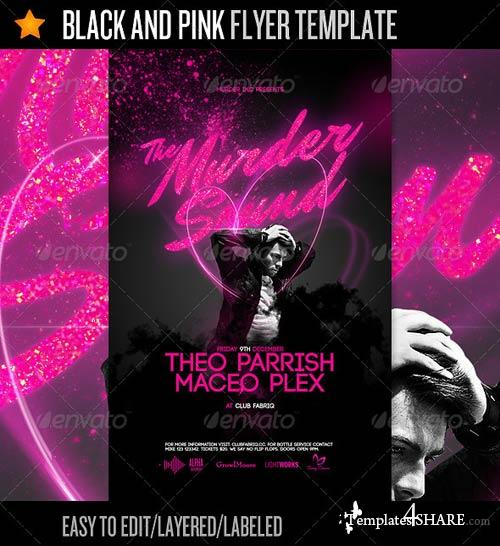 GraphicRiver Black And Pink - Flyer Template