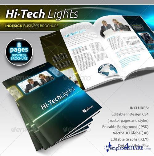 GraphicRiver Hi-Tech Lights Business Brochure