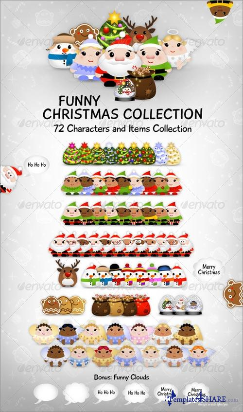 GraphicRiver Funny Christmas Collection