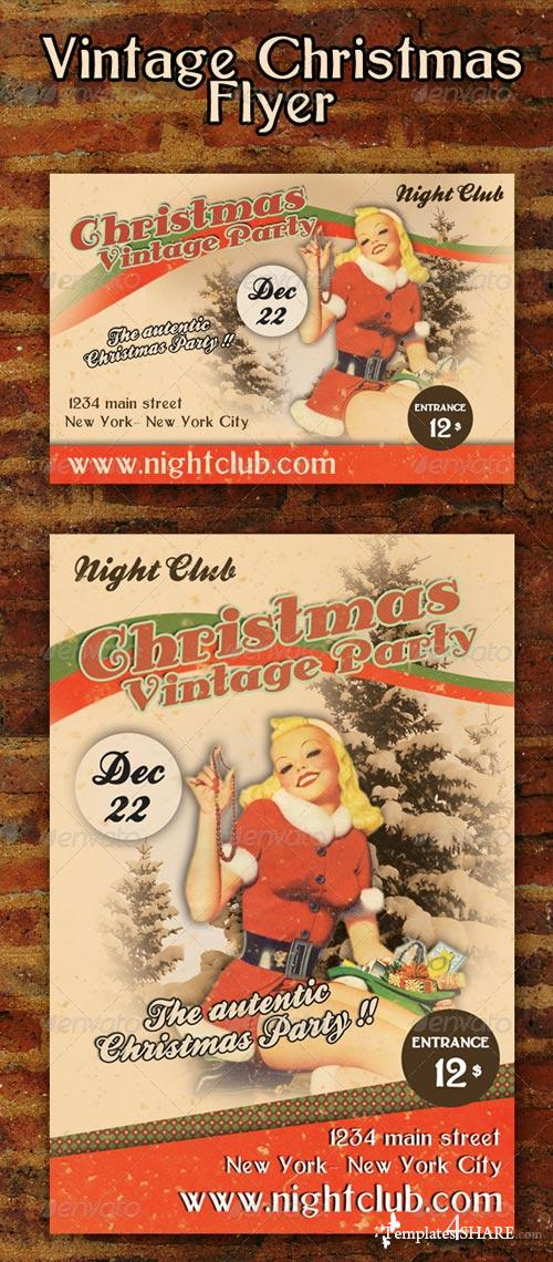 GraphicRiver Vintage Christmas Flyer