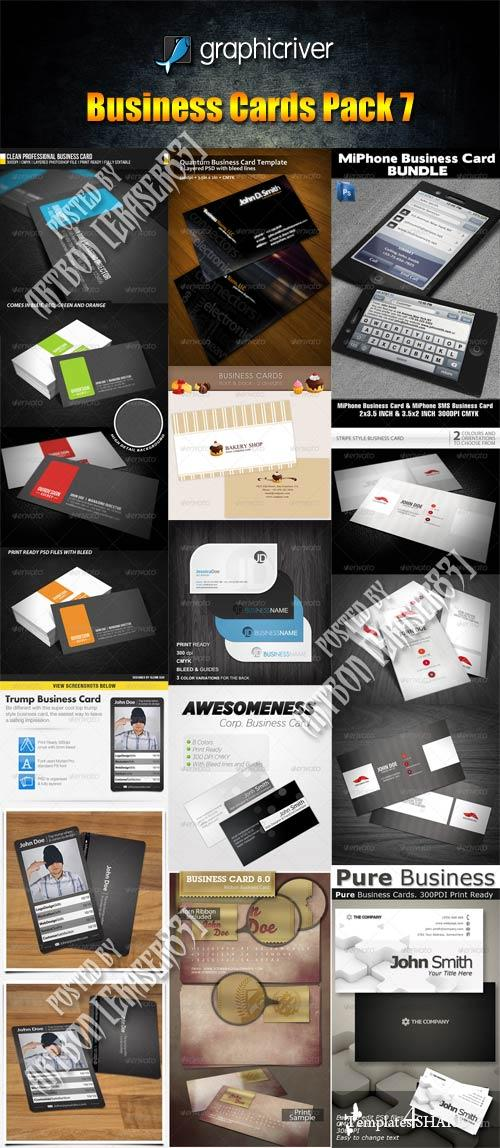 GraphicRiver Business Cards Pack 7