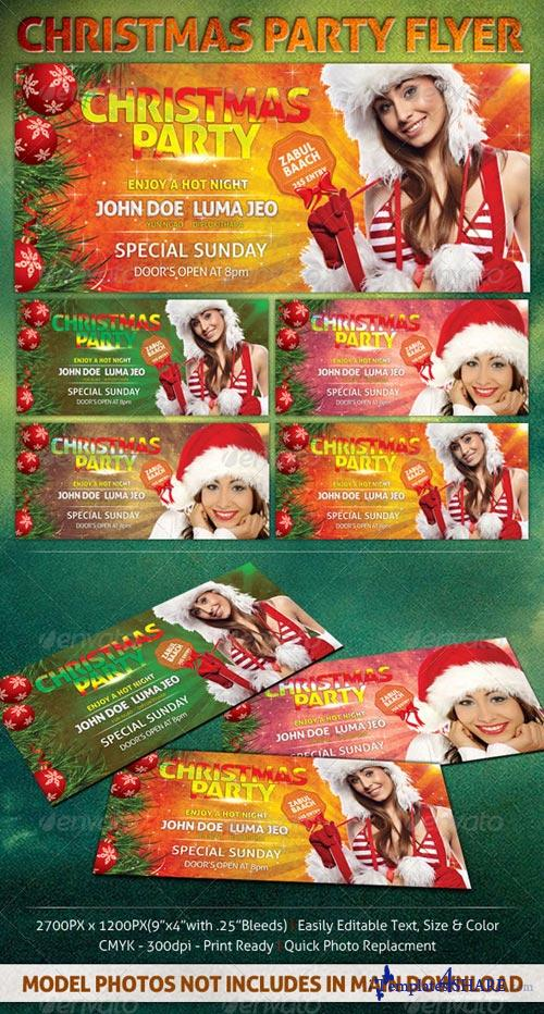 GraphicRiver Christmas Party Flyer 3421652