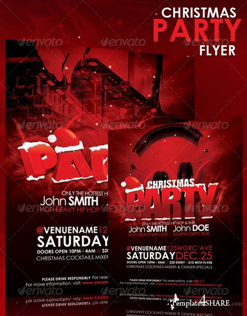 GraphicRiver Christmas Party Flyer 144058