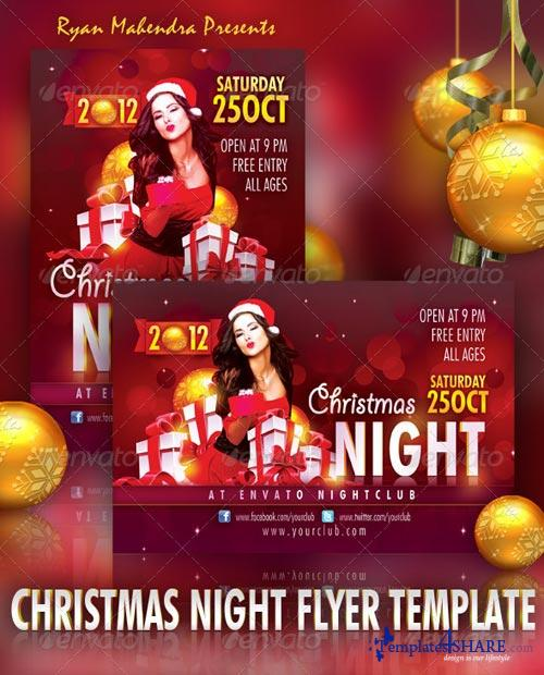 GraphicRiver Christmas Night Flyer Template 3427135