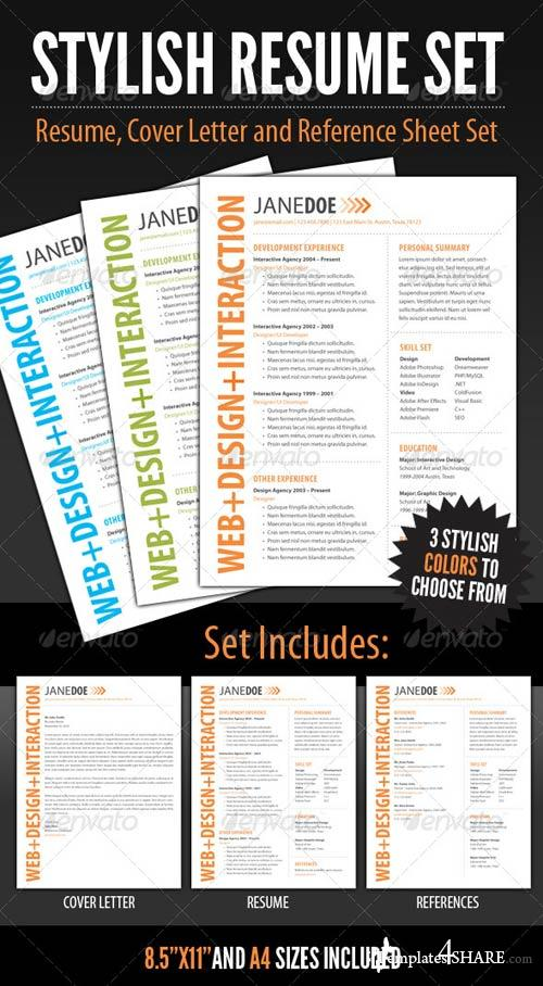 GraphicRiver Stylish Resume Template Set