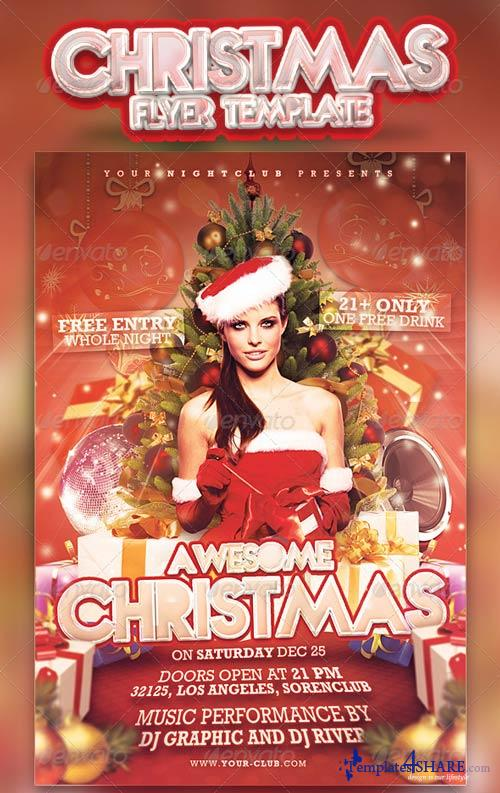 GraphicRiver Christmas Party Flyer 3415926