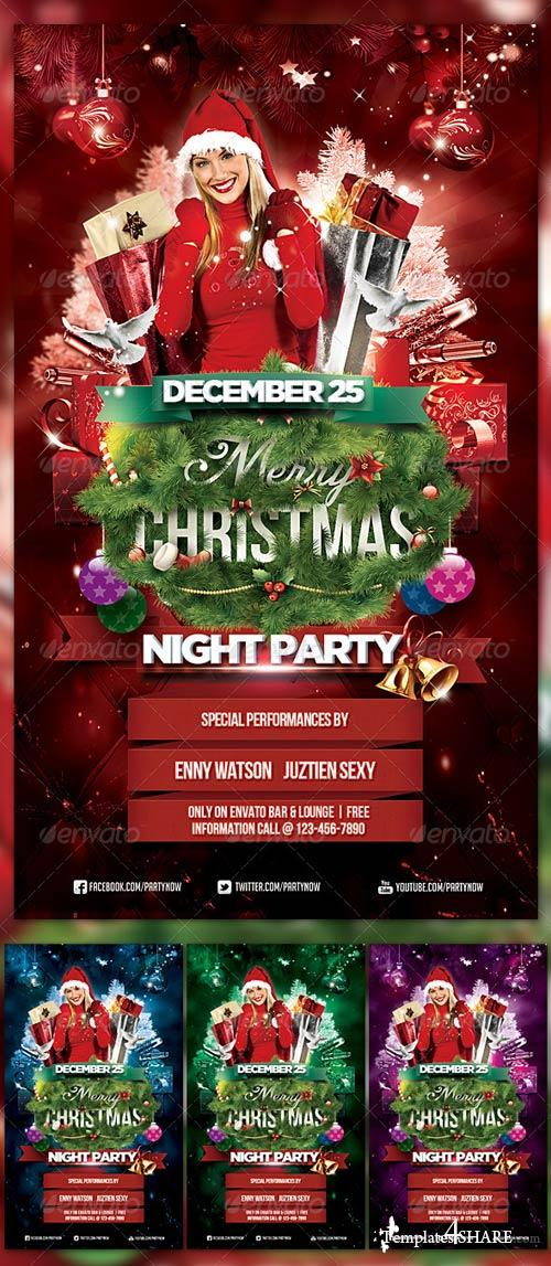 GraphicRiver Christmas Night Party 3310500