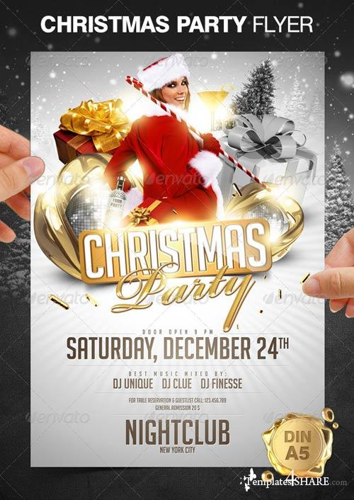 GraphicRiver Christmas Party Flyer 853786