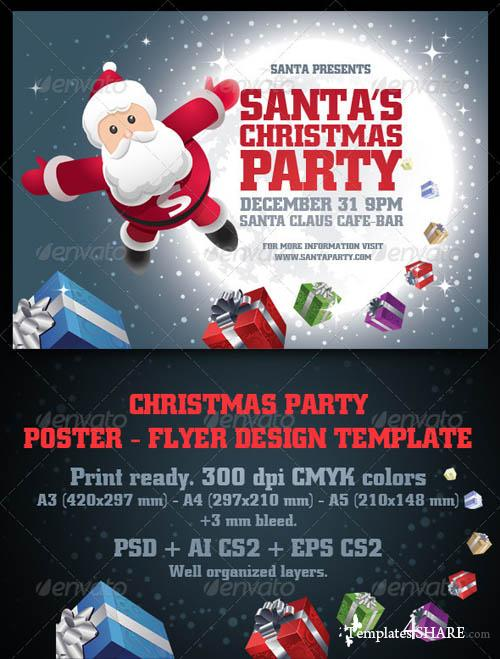 GraphicRiver Santa's Christmas Party Flyer & Poster Set