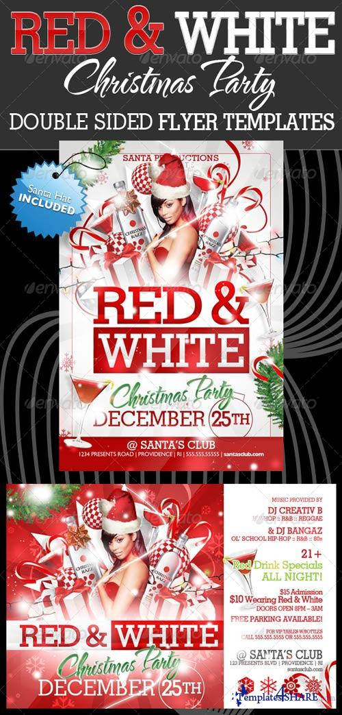 Graphicriver White and Red Christmas Party Flyer Templates