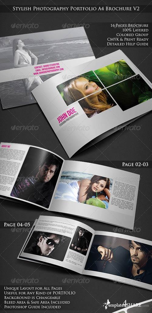 GraphicRiver Stylish Photography Portfolio A4 Brochure V2