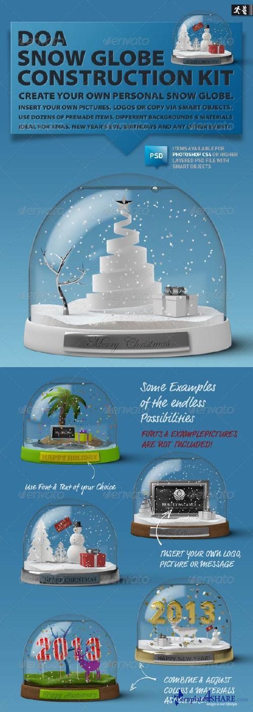 GraphicRiver DOA Snow Globe Construction Kit
