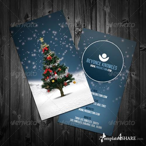 GraphicRiver Christmas Business Card
