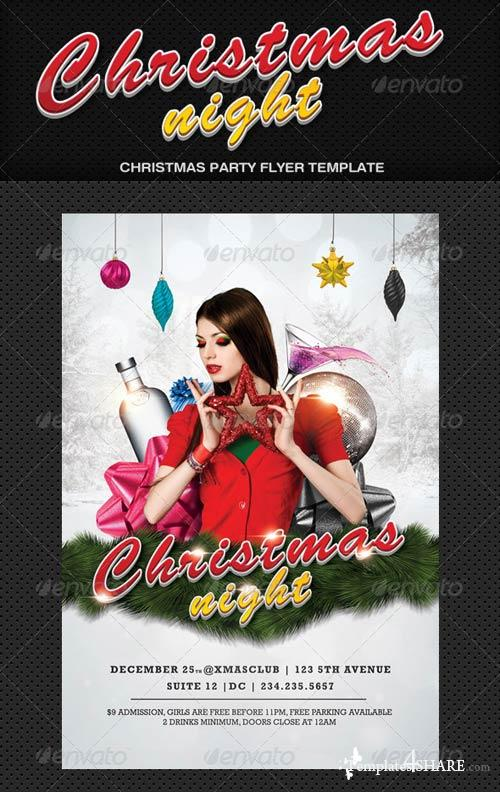 GraphicRiver Christmas Night Flyer 976845
