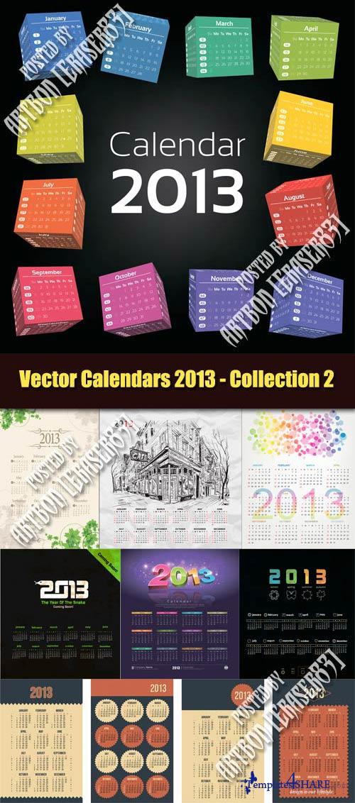Vector Calendars 2013 - Collection 2
