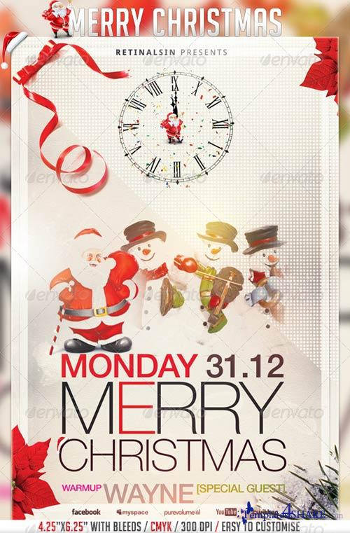 GraphicRiver Merry Christmas Flyer Template 3405666