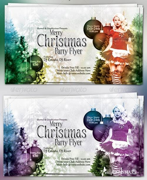 GraphicRiver Merry Christmas Party Flyer 866902