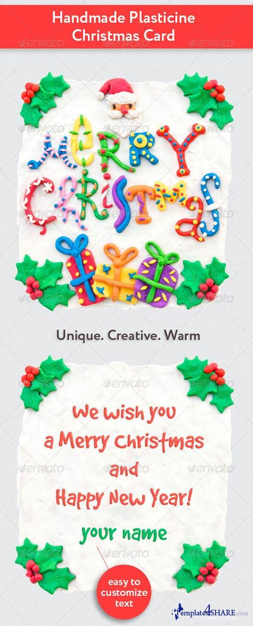 GraphicRiver Handmade Plasticine Christmas Card