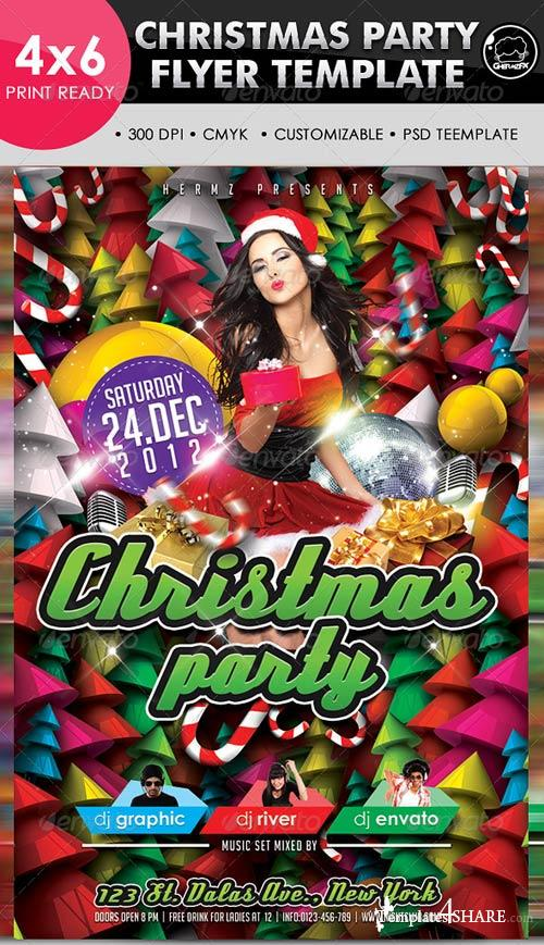GraphicRiver Christmas Party Flyer Template 3325890