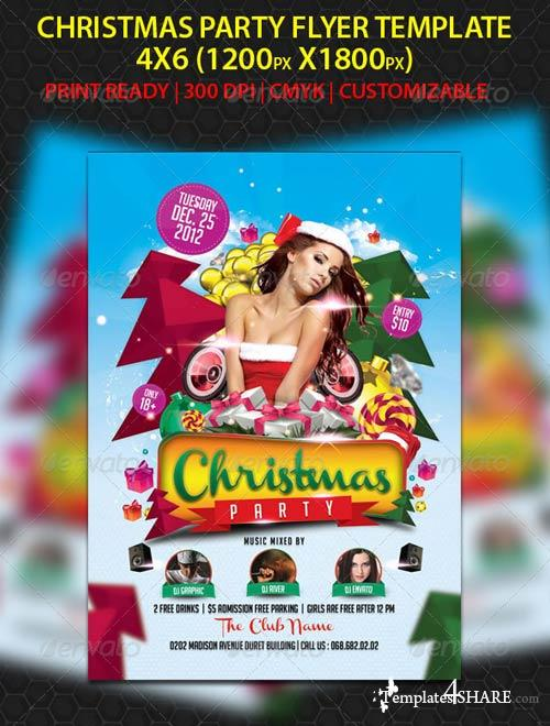 GraphicRiver Christmas Party Flyer 3372088