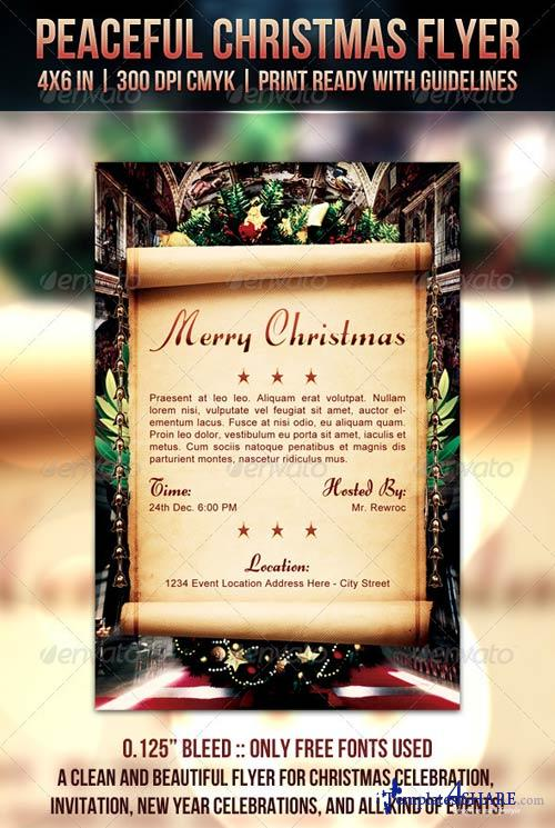 GraphicRiver Peaceful Christmas Flyer