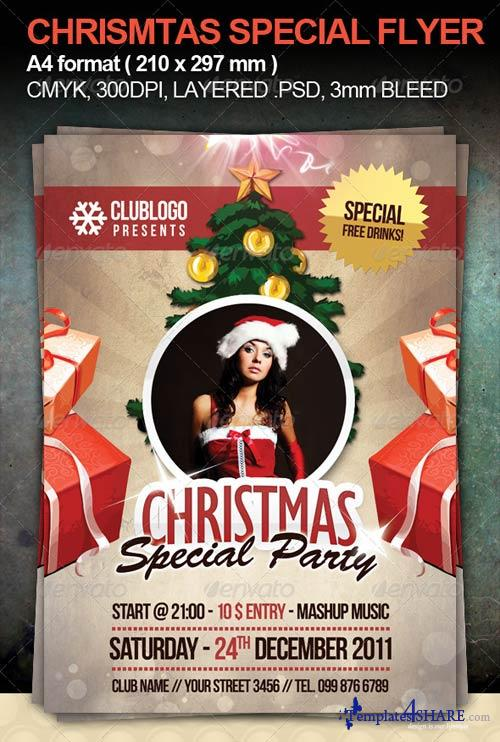 GraphicRiver Christmas Special Party Flyer