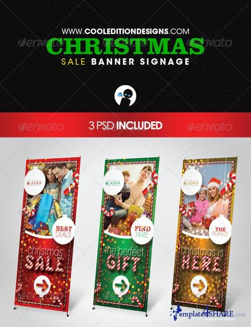 GraphicRiver Christmas Sale Banner Signage