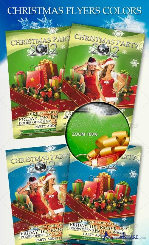 GraphicRiver Christmas Flyers Colors