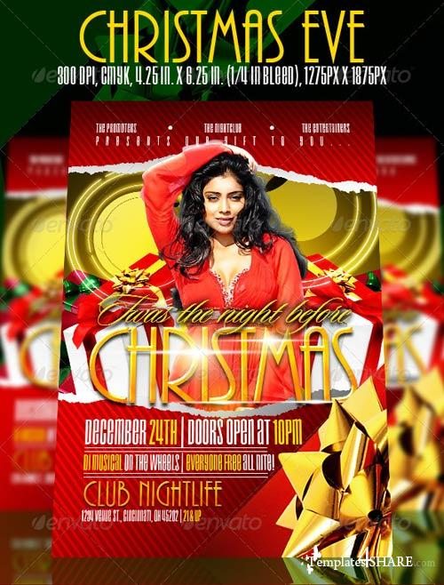 GraphicRiver Christmas Eve Flyer template