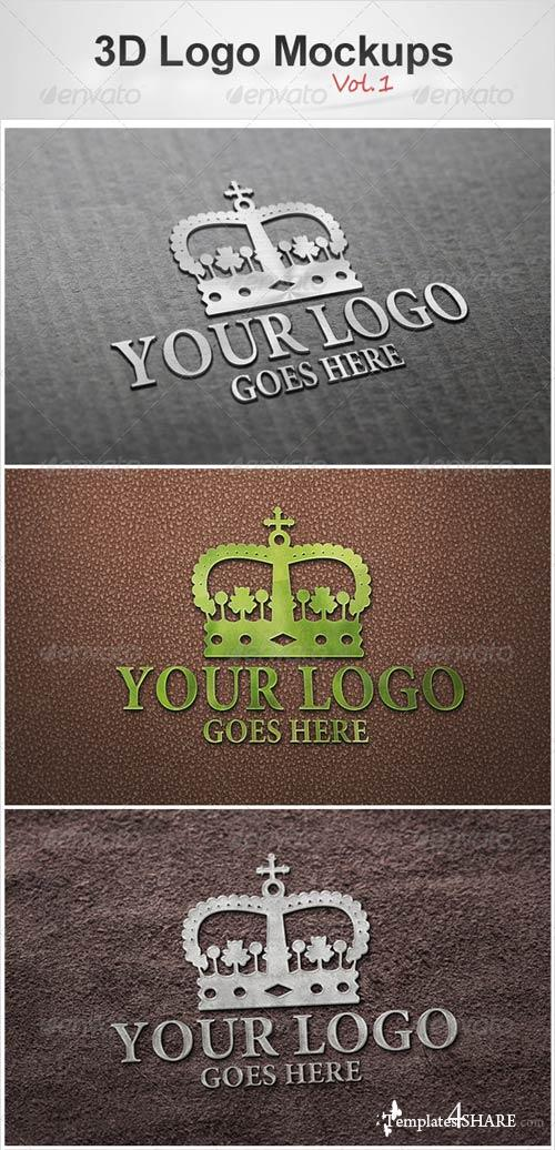 GraphicRiver 3D Logo Mockups Vol.1