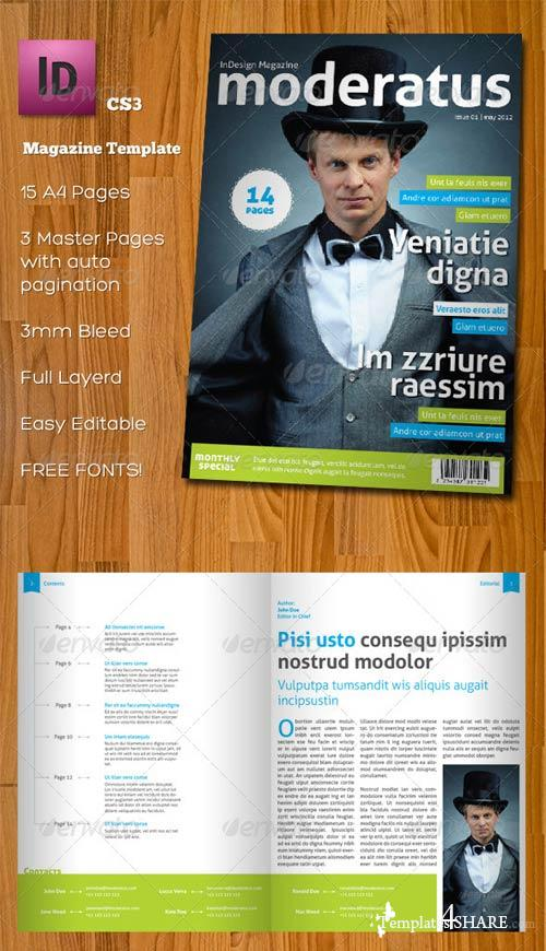 GraphicRiver Moderatus - InDesign A4 Magazine Template