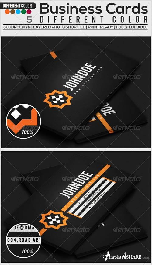 GraphicRiver Business Card 5 Different Color