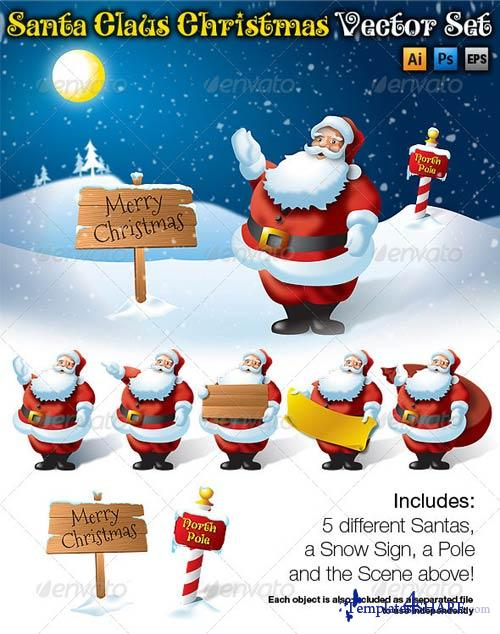 GraphicRiver Santa Claus Christmas Vector Set