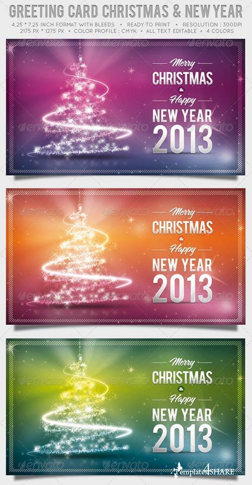 GraphicRiver Greeting Card Christmas and New Year