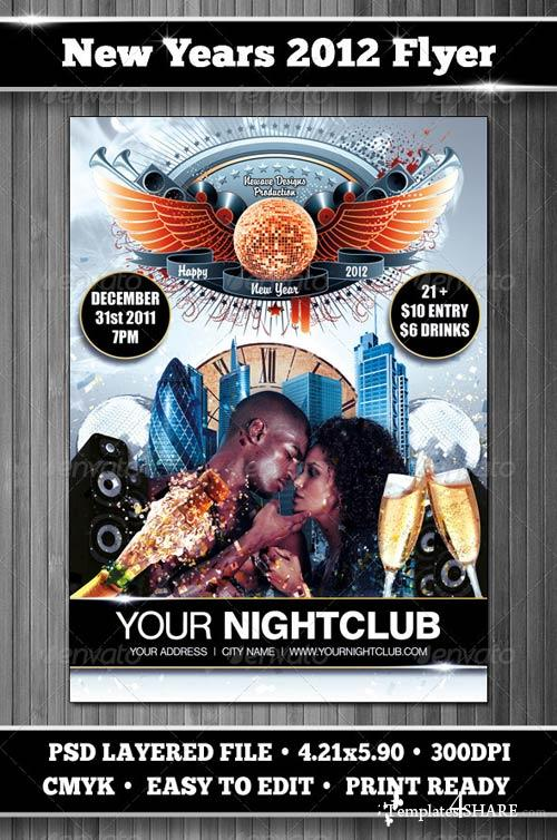 GraphicRiver New Year's Party Flyer