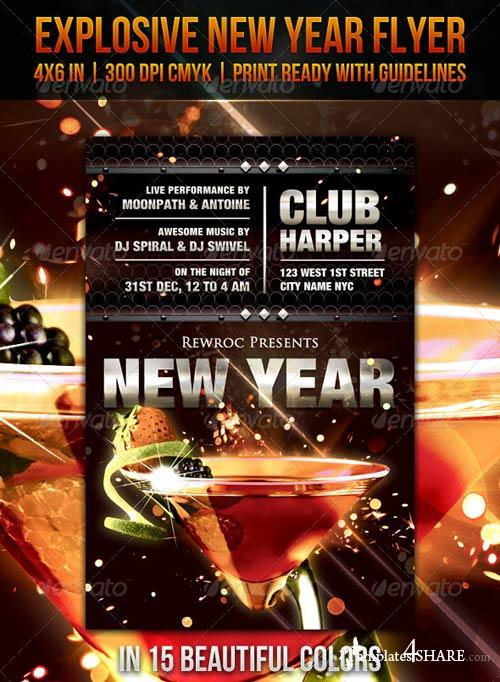 GraphicRiver Explosive New Year Flyer