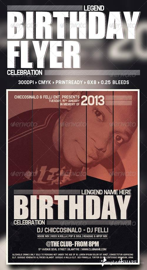 GraphicRiver Birthday Flyer