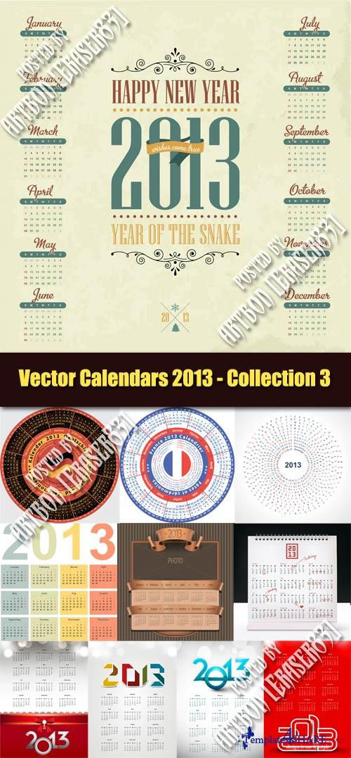 Vector Calendars 2013 - Collection 3