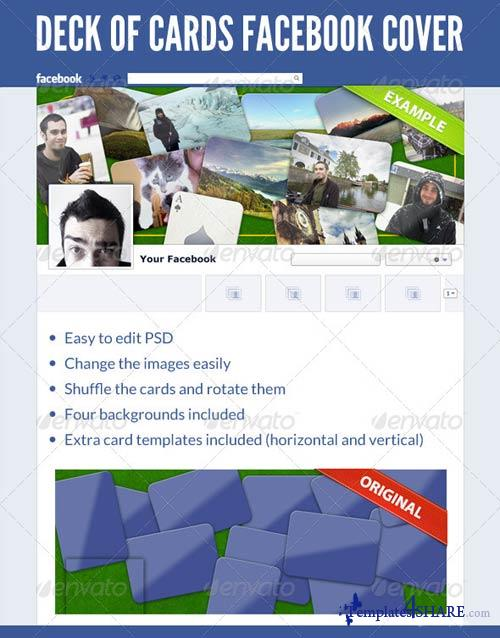 GraphicRiver Deck of Cards FB Cover