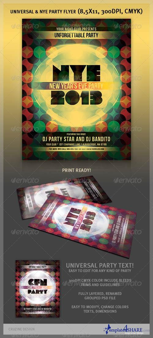 GraphicRiver Universal & NYE Party Flyer