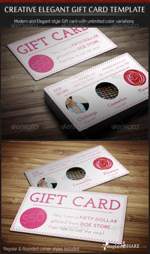 Graphicriver creative elegant gift card template templates4sharecom free web templates for Gift card template psd