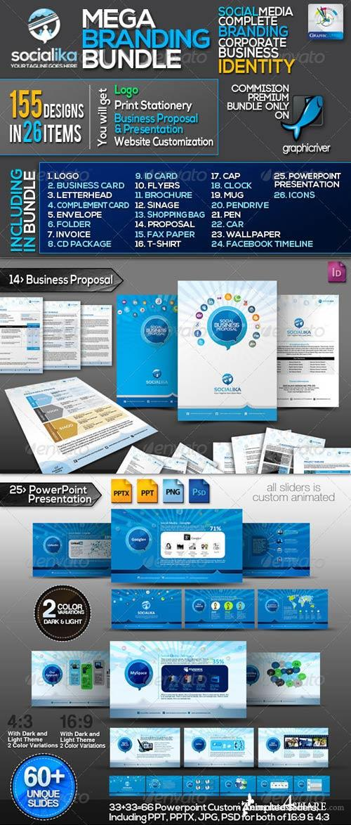 GraphicRiver Socialika: Social Media ID Mega Branding Bundle