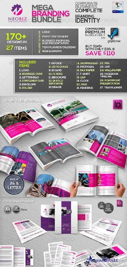 GraphicRiver NeoBiz: Corporate Business ID Mega Branding Bundle