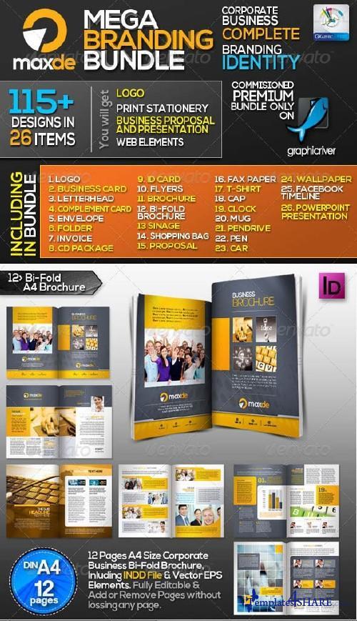 GraphicRiver Maxde: Corporate Business ID Mega Branding Bundle