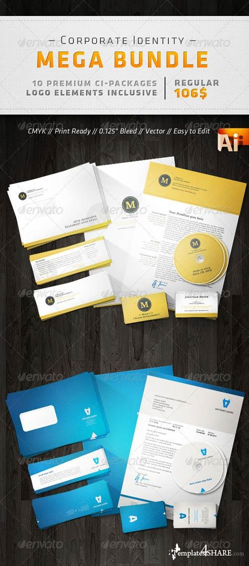 GraphicRiver Corporate Design Mega Bundle