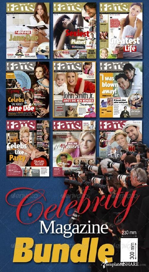 GraphicRiver Celebrity Magazine Bundle