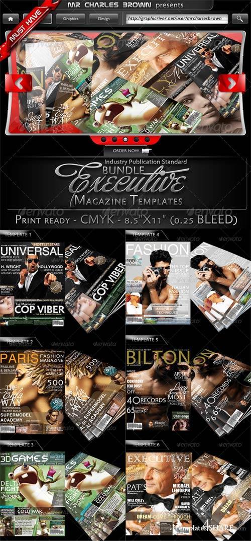 GraphicRiver Executive Magazine Cover Templates Bundle