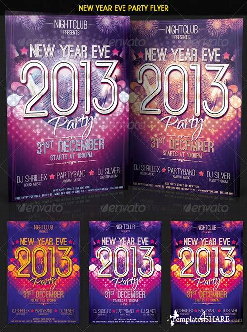GraphicRiver New Year Eve Party Flyer 3586825