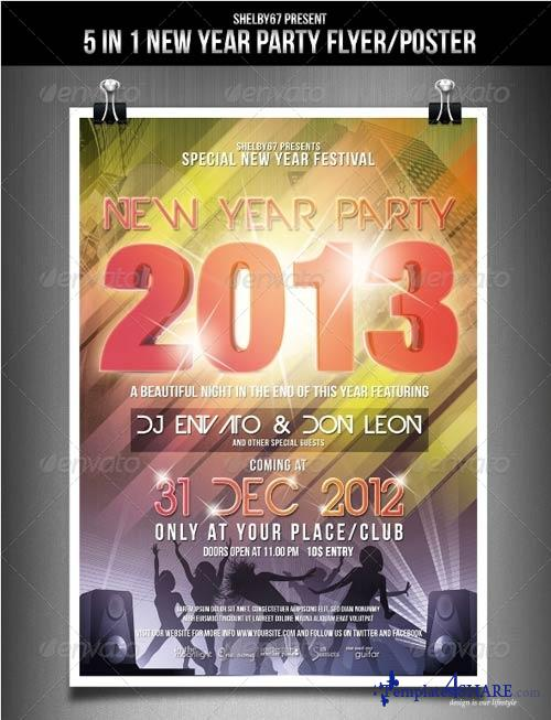 GraphicRiver New Year Party Flyer / Poster 3563275