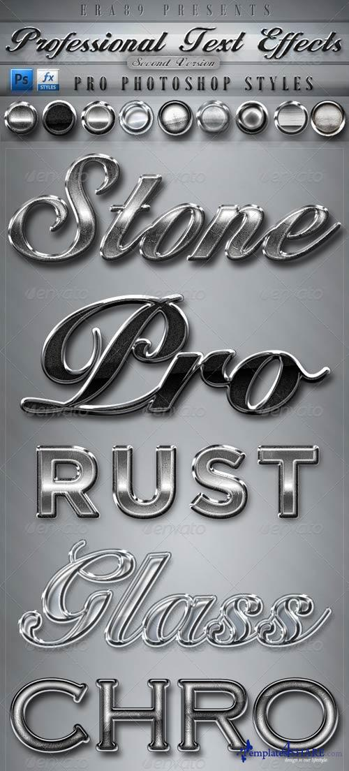 GraphicRiver Pro Text Effects V2 - PS Styles